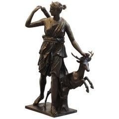 Large Bronze of Diana the Huntress