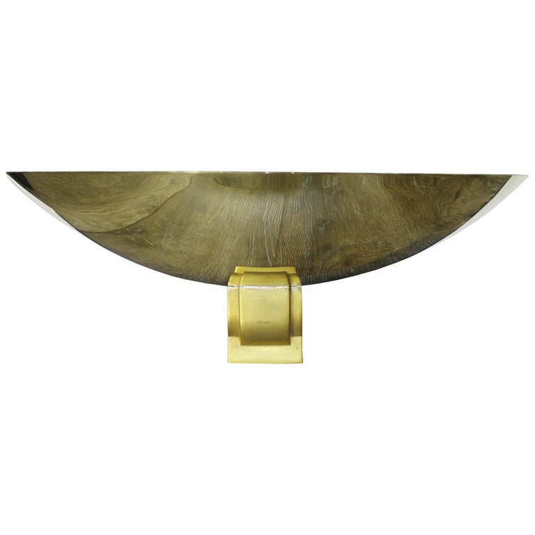 Large Bronze Sconce Attributed to Perzel, France, 1950 For Sale