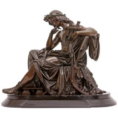 "Large Bronze Sculpture ""Orpheus"""