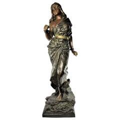 """Large Bronze Sculpture """"Prise De Corsaire"""" by Emmanuel Villanis"""