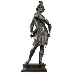 Large Bronze Statue Bellum by Emile-Louis Picault 'French, 1833-1915'