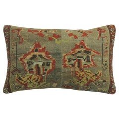 Large Brown Gray Persian Rug Pillow
