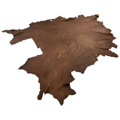 Large Brown Soft Leather Cowhide