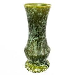 Large Brush McCoy USA Vase Number 177 Green Mottled Glaze