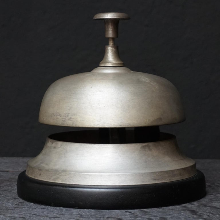 Brilliant Large Brushed Brass Amsterdam Hotel Counter Bell Home Interior And Landscaping Oversignezvosmurscom