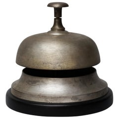 Large Brushed Brass Amsterdam Hotel Counter Bell