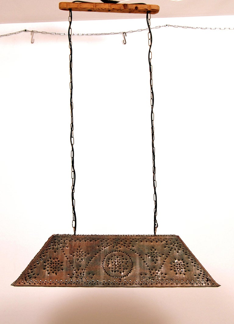 Large Brutalist Pendant in Patinated Copper by Olle Malm In Good Condition For Sale In Stockholm, SE