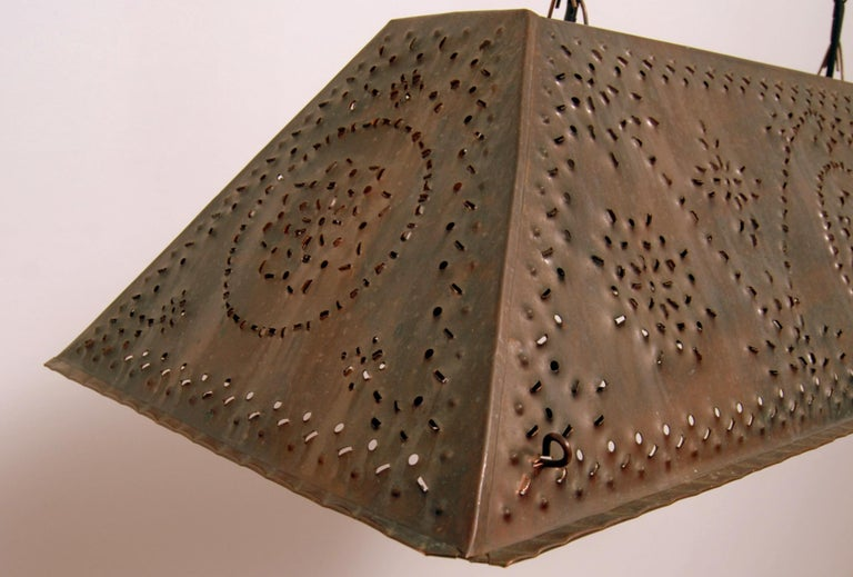 Large Brutalist Pendant in Patinated Copper by Olle Malm For Sale 3