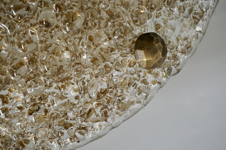 Large Bubble Glass Flush Mount Helena Tynell Style, 1960s For Sale 3