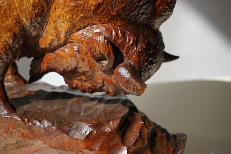 Large Buffalo or Bison in Wood For Sale 5