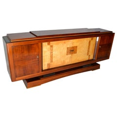 Large Buffet Attributed to Alfred Porteneuve in Wood, 1940s-1950s, Italy