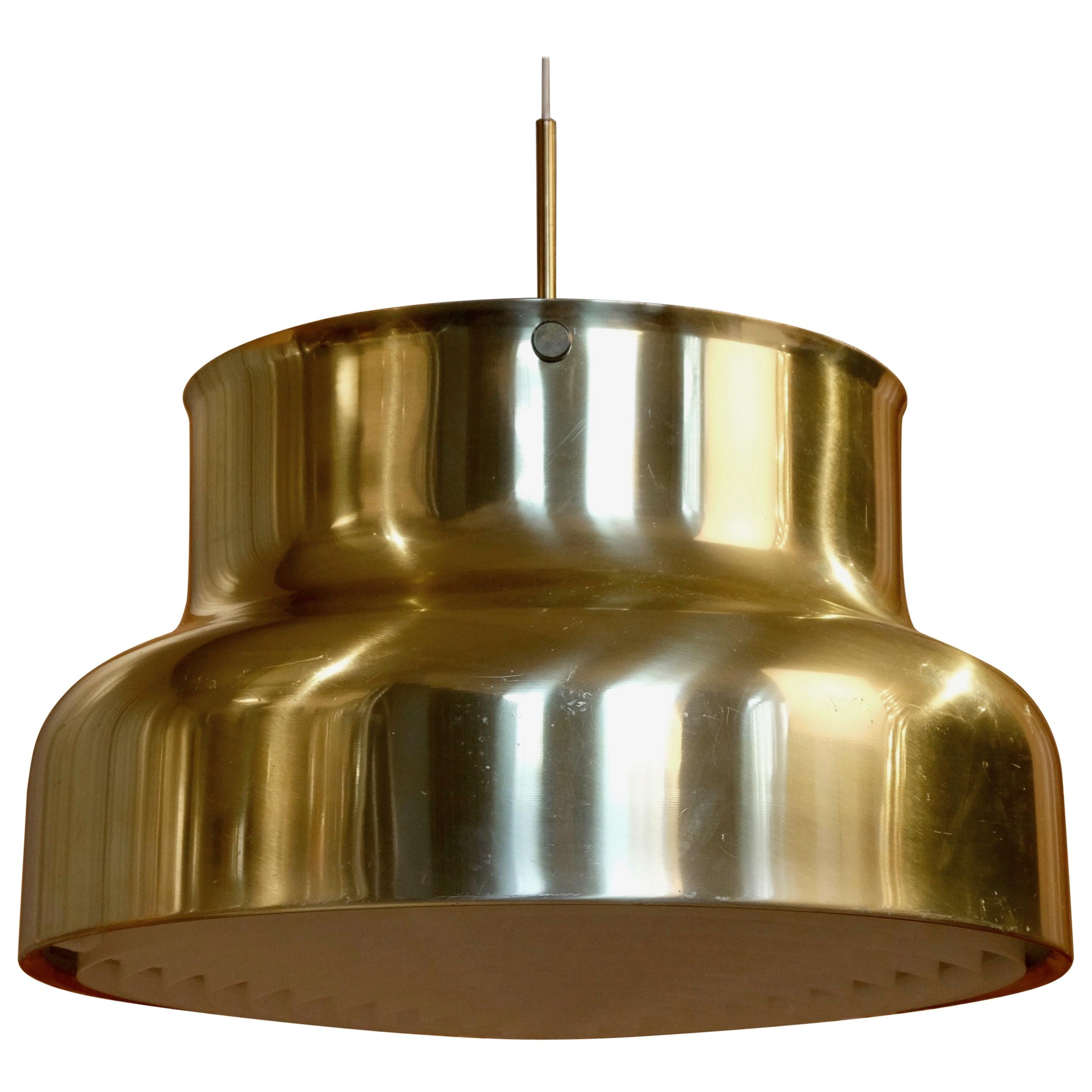 Large Bumling Ceiling Pendant in Brass, Sweden, 1960s