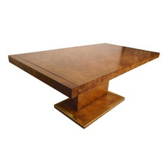 Large Burl Dining Table