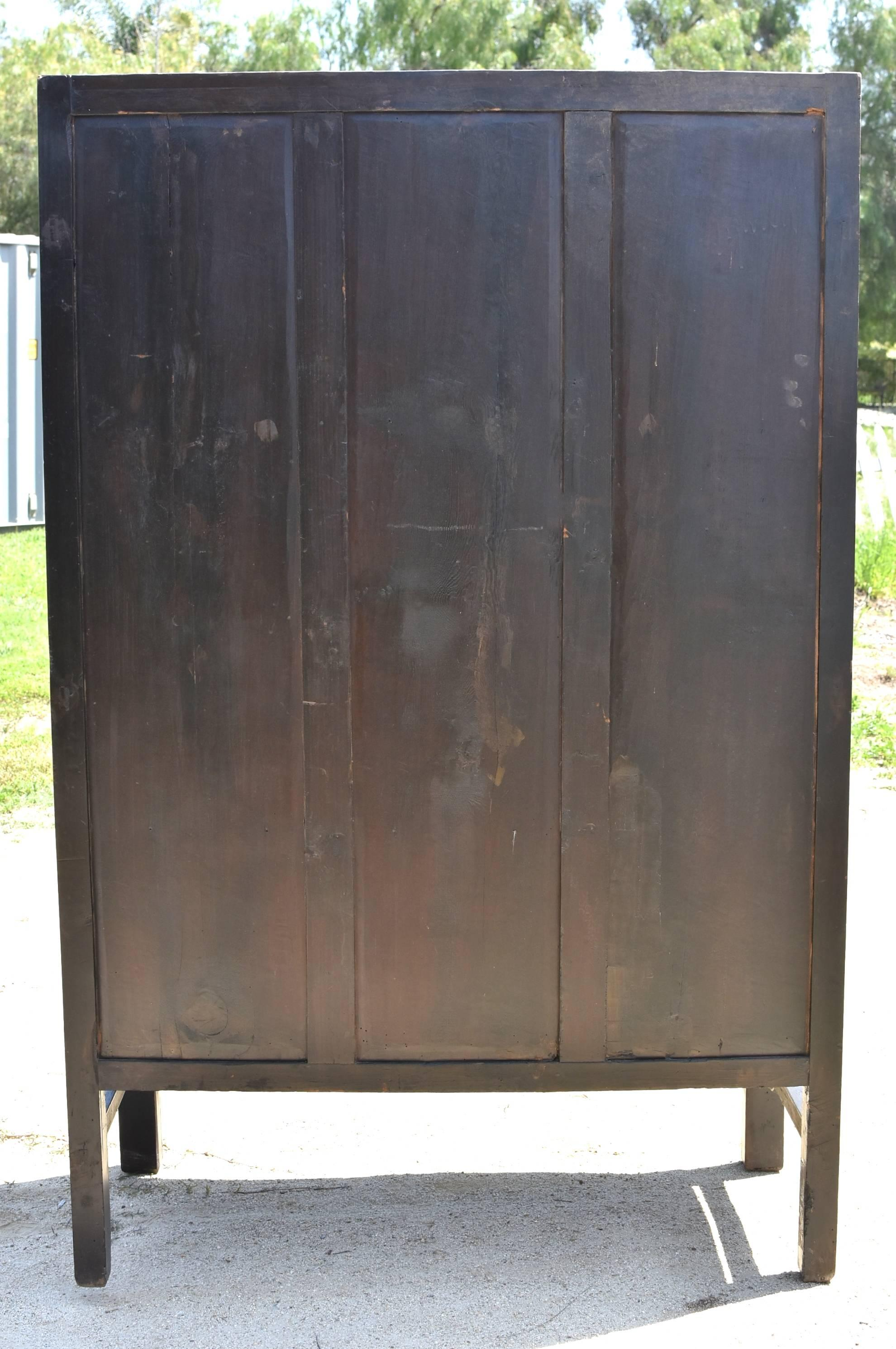 Large Burl Wood Armoire, Brown And Gold Burl Wood Cabinet For Sale 12