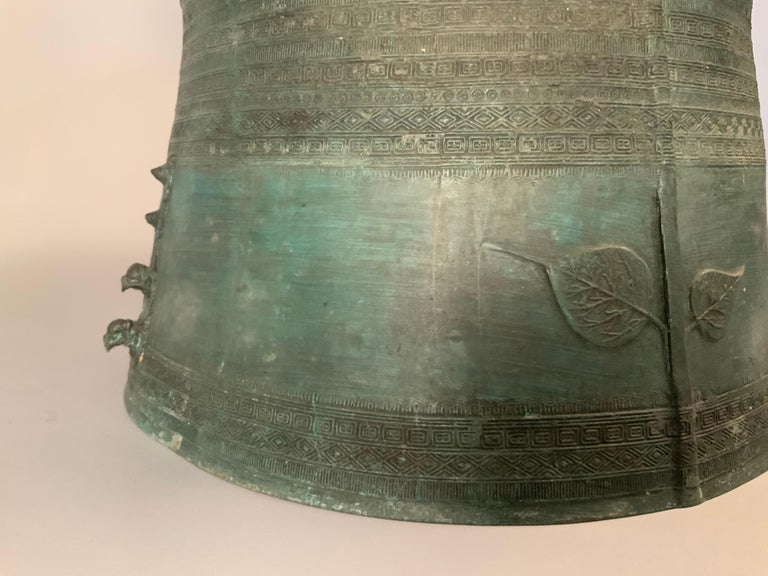 20th Century Large Burmese Bronze Rain Drum Table For Sale