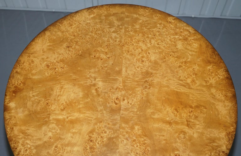 English Large Burr Walnut Cocktail Coffee Low Table Nicely Carved Legs Great Patina For Sale