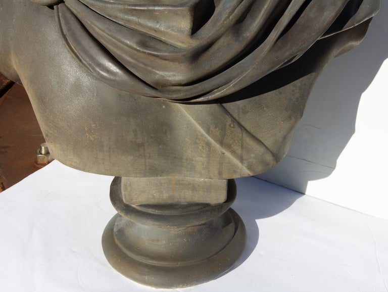 Large Bust of Apollo Belvedere Twice Life-Size For Sale 2