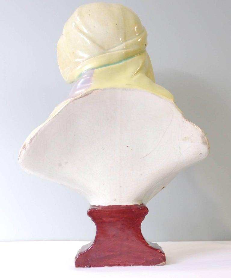 Neoclassical Large Bust of the Pieta, Ralph Wood Jr, circa 1790 For Sale