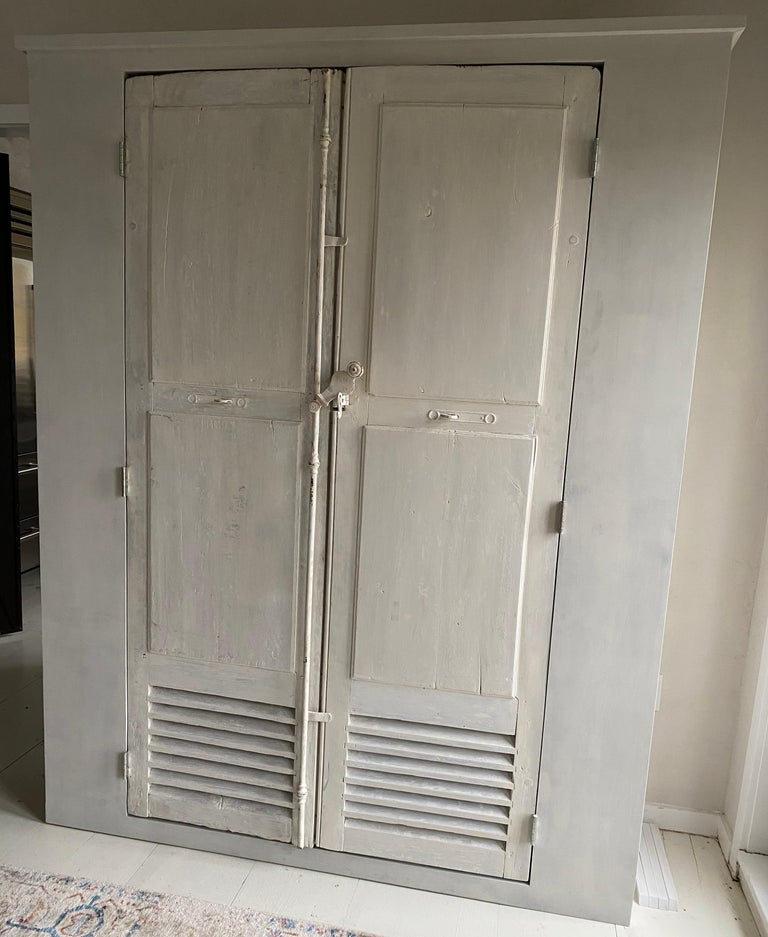 French Large Cabinet/Cupboard with Antique Doors For Sale