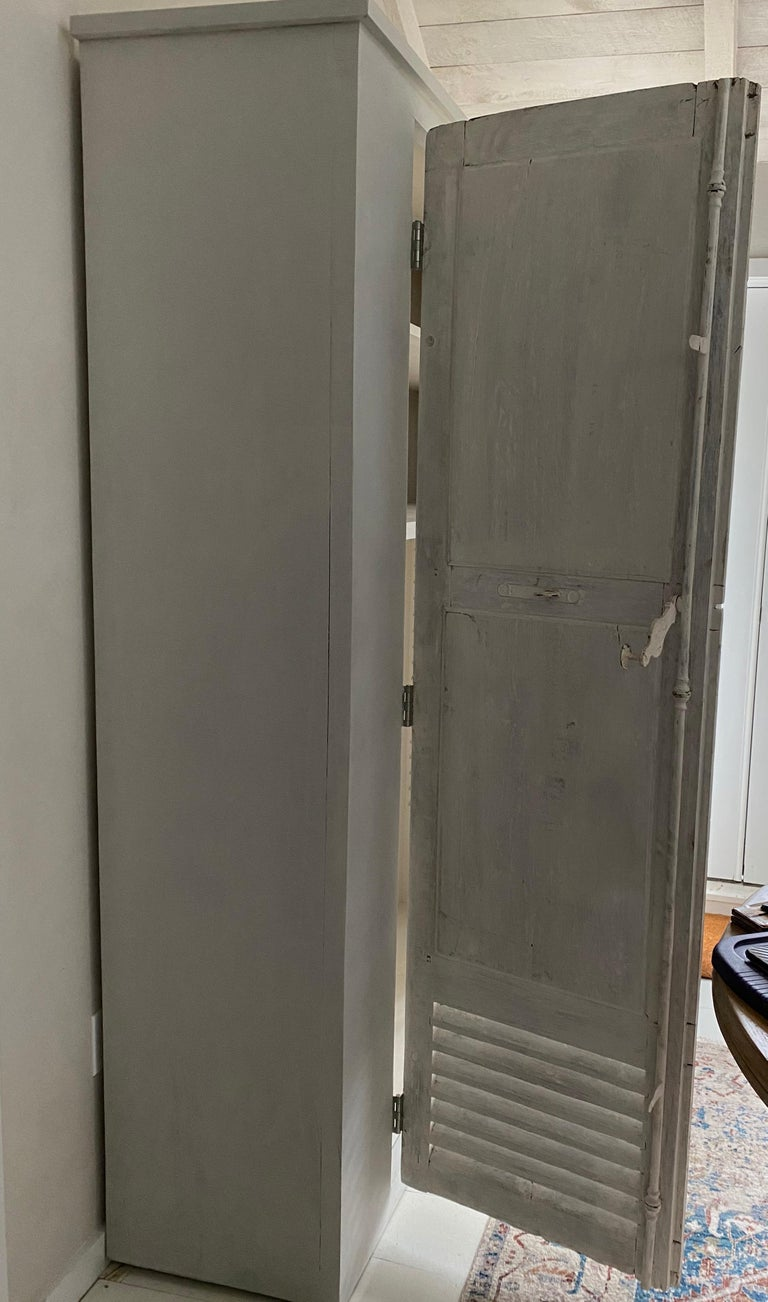 Large Cabinet/Cupboard with Antique Doors In Good Condition For Sale In Great Barrington, MA