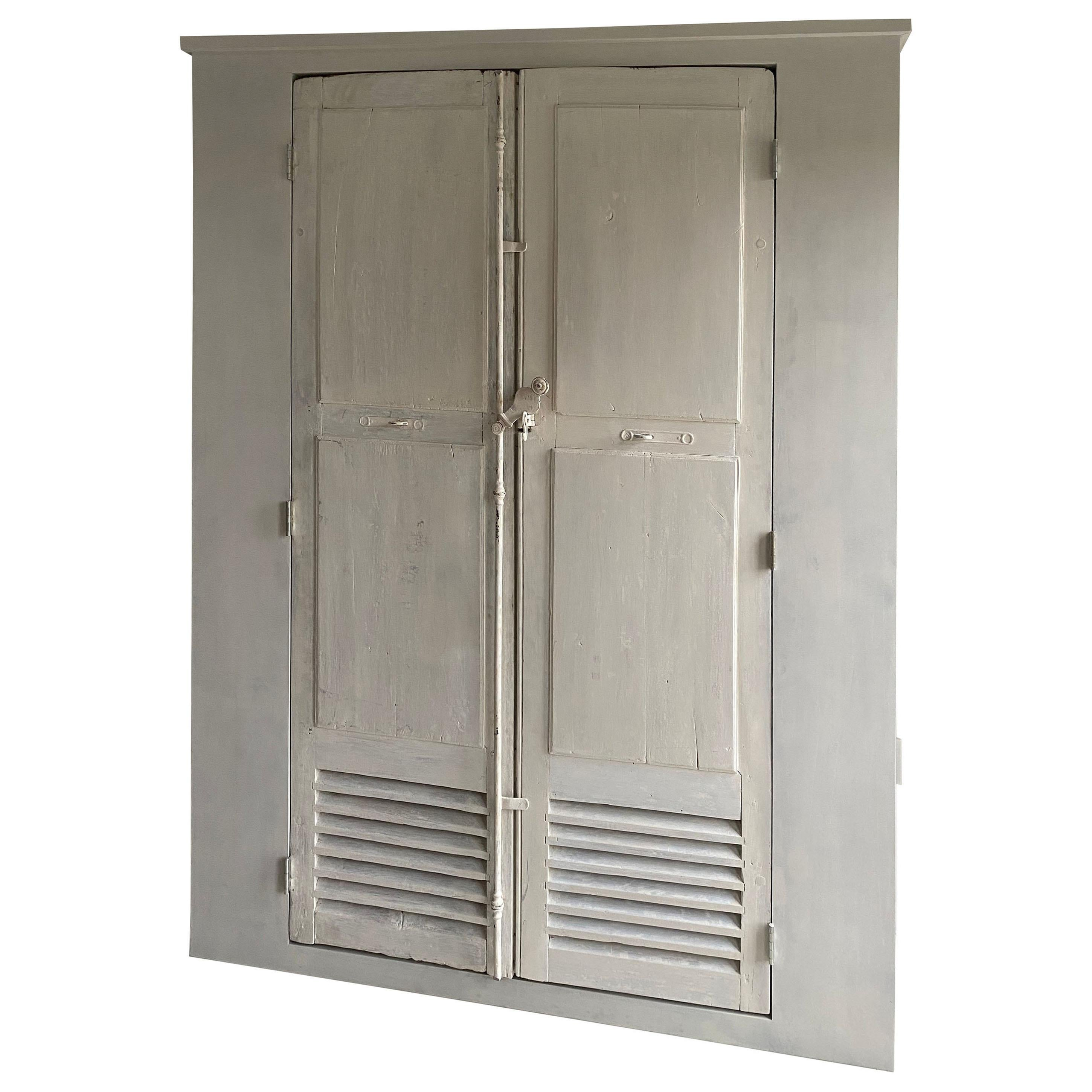 Large Cabinet/Cupboard with Antique Doors