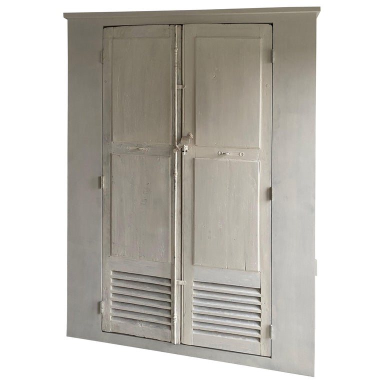 Large Cabinet/Cupboard with Antique Doors For Sale
