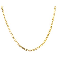 Large Cable Chain Long 14 Karat Yellow Gold, Long Necklace Chain