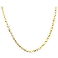 Large Cable Chain Long 14 Karat Yellow Gold, Long Necklace Chain, Iconic Link