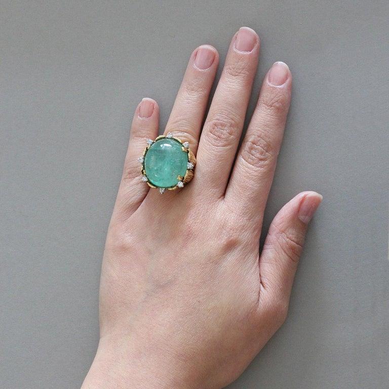Large cabochon ring