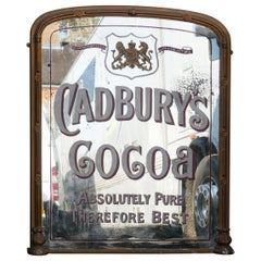 Large Cadbury Coca Shop Advertising Wall Mirror, with Royal Appointment