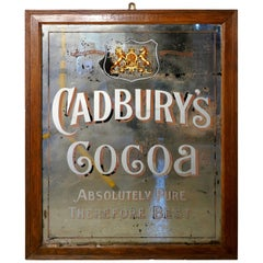 Large Cadbury's Cocoa Advertising Mirror, Royal Appointment to Queen Victoria