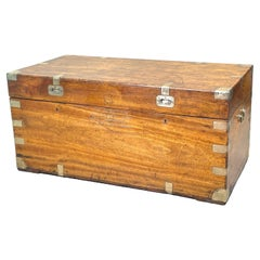 Large Camphor Wood Military Campaign Trunk