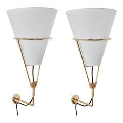 Large Carl Auböck 'Vice Versa' Wall Lamp