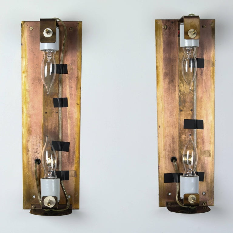 Large Carl Fagerlund for Orrefors Glass Sconces, circa 1970s For Sale 9