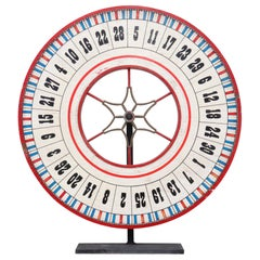Large Carnival Wheel in Red White and Blue