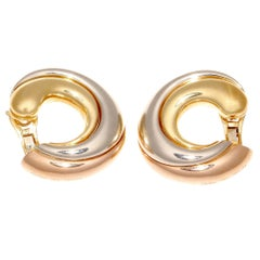 Large Cartier Trinity Hoop Earrings