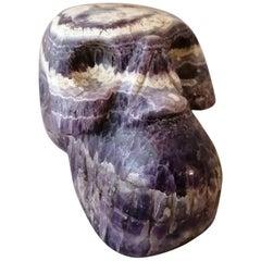 Large Carved Amethyst Quartz Skull