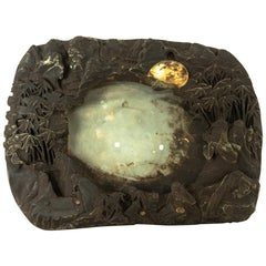 Large Carved and Richly Textured Chinese Ink-Stone
