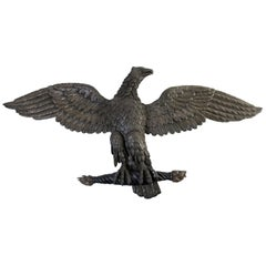 Large Carved Eagle in Oak and Beechwood, Empire Period