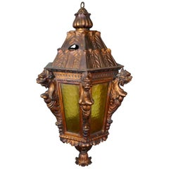 Large Carved Gilded Wooden Lantern from Theatre Royal Brighton