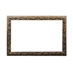 Large Carved Giltwood Frame with Flower Detail, 19th Century France