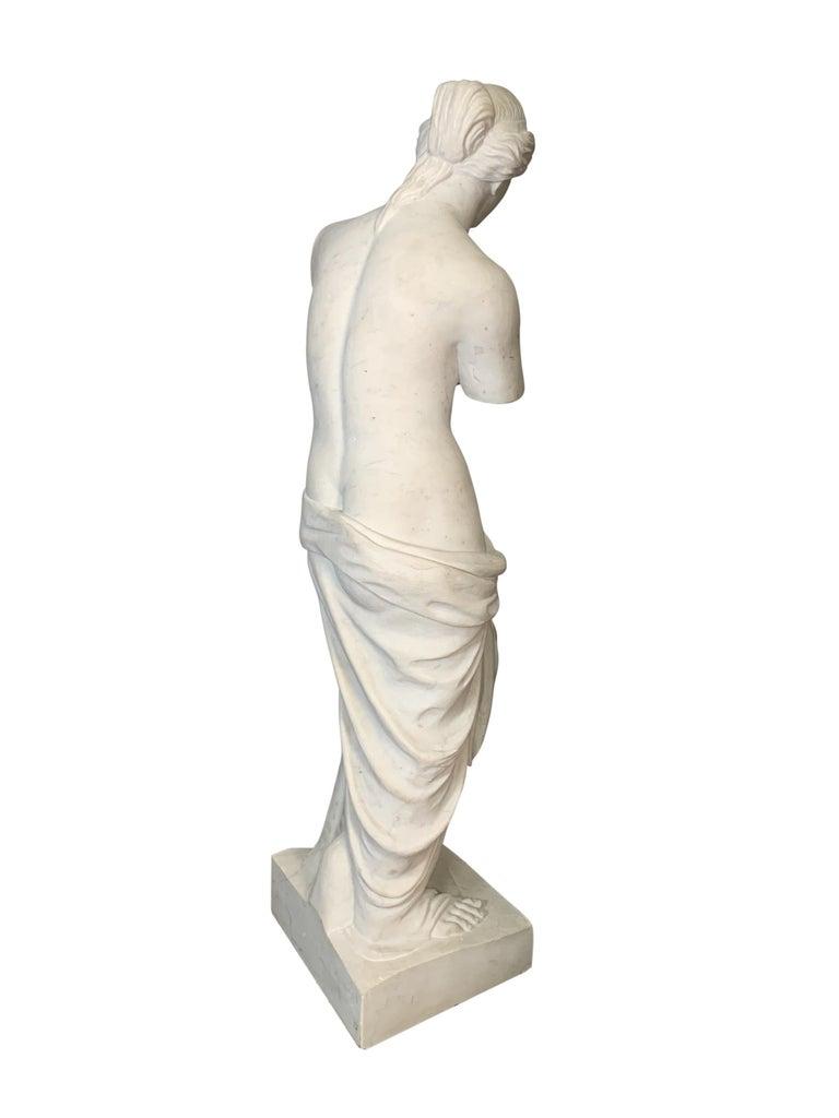 Classical Greek Large Carved Marble Figure of Venus De Milo For Sale