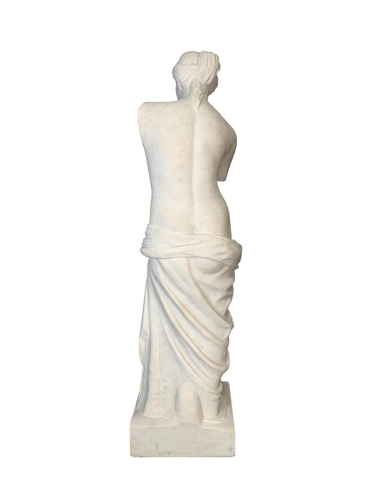 Italian Large Carved Marble Figure of Venus De Milo For Sale
