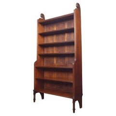Large Carved Open Bookcase