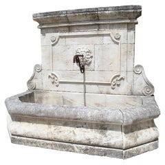 Large Carved Stone Wall Fountain from the South of France