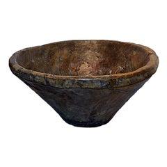 Large Carved Teakwood Bowl