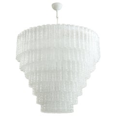 Large Cascading Murano Glass Chandelier, in Stock