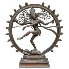 Large Cast Bronze of Shiva as Lord Nataraja