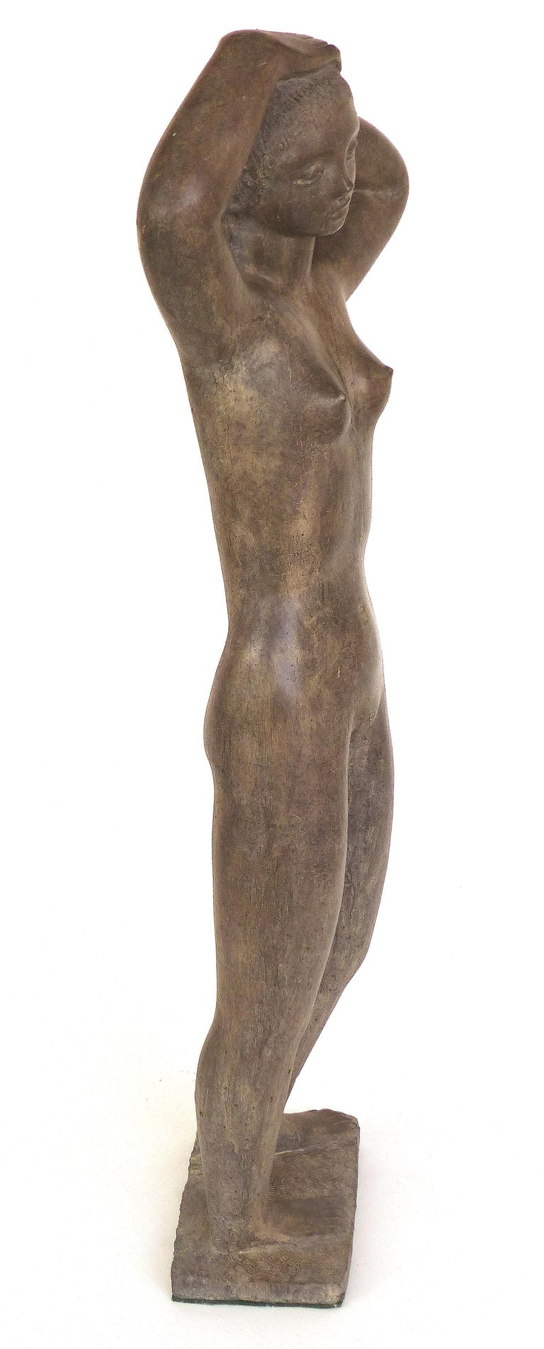 Large Cast Composition Sculpture of Standing Nude, Chuck Dodson, American, 1970s For Sale 1