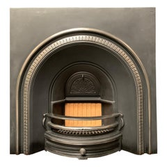 Large Cast Iron Fireplace Insert in the Victorian Style